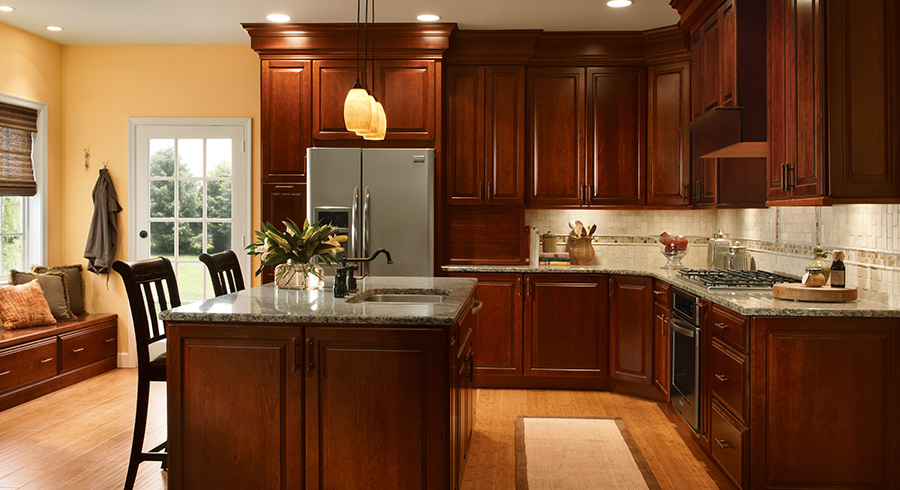 4 Unique Ways To Use Cherry Cabinets In Your Kitchen Kraftmaid