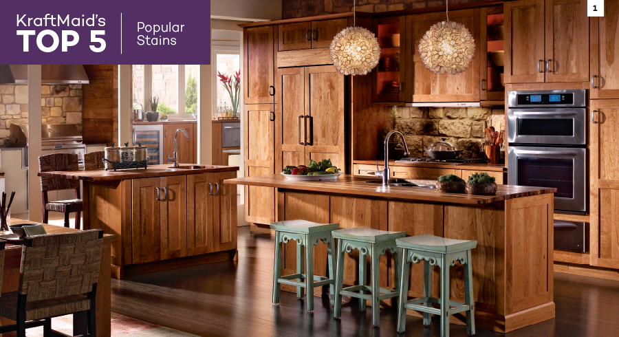 Top 5 Most Popular Kitchen Cabinet Stain Colors From Kraftmaid Kraftmaid