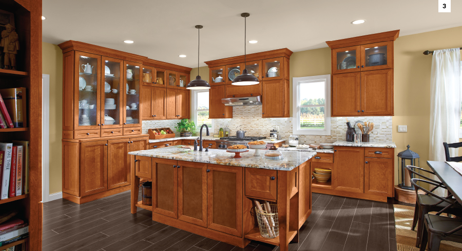 Traditional and Timeless KraftMaid Praline Kitchen